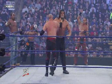 Kane Grabs Khali By The Throat - Survivor Series 23-11-08